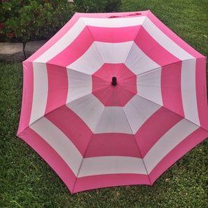 Victoria's Secret Pink Striped Signature Umbrella